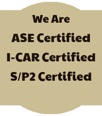 We Are ASE, I-CAR, and S/P2 Certified